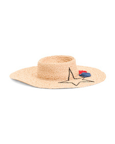 HAT ATTACK Whats Your Motto Sunhat With Straw And