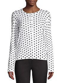 Lord & Taylor Petite Essential Printed Cardigan WH