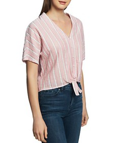 1.STATE - Striped Tie-Front Shirt