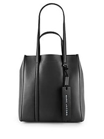 Marc Jacobs The Tag 27 Coated Leather Tote BLACK