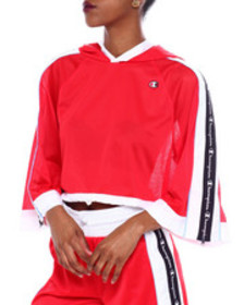 Champion hooded cropped mesh top