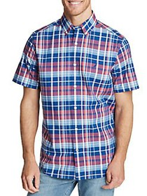 Nautica Plaid Short-Sleeve Shirt BLUE MULTI