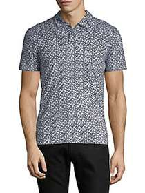 Perry Ellis Regular-Fit Pima Cotton Animal Print P
