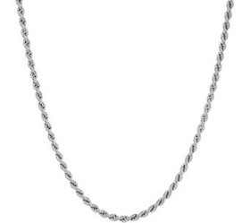 """""""As Is"""" Italian Silver Adjustable Rope Necklace, 1"""