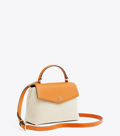 Tory Burch ROBINSON CANVAS SMALL TOP-HANDLE SATCHE