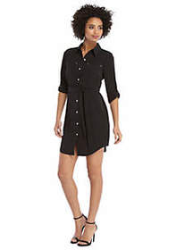 The Limited Roll Sleeve Shirt Dress