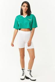 Forever21 Pony Cropped Jersey Polo