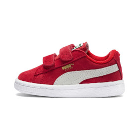 Puma Suede AC Toddler Shoes, high risk red-white,