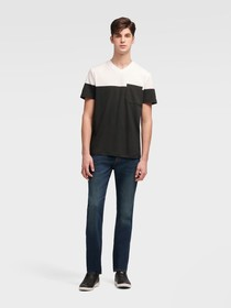 Donna Karan Color Block V-Neck Tee