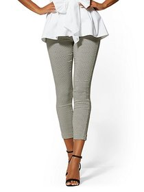 Whitney High-Waist Pull-On Ankle Pant - Graphic Pr