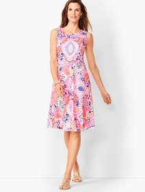 Talbots Edie Fit & Flare Dress - Paisley