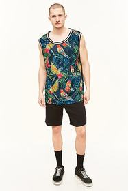 Forever21 American Stitch Tropical Print Jersey Ta