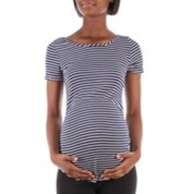 LOVE U ALREADY Striped Maternity Shirt