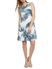 NIC+ZOE Seaside A-Line Dress BLUE