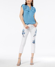I.N.C. Utility Shirt & Cropped Jeans, Created for