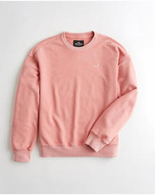 Hollister Oversized Terry Crewneck Sweatshirt, PIN