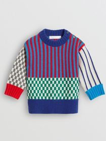 Burberry Graphic Cashmere Jacquard Sweater in Mult