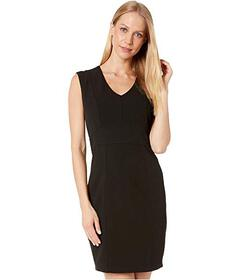Bebe Plunge Neck Seamed Dress