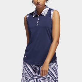 Adidas Ultimate365 Printed Sleeveless Polo Shirt