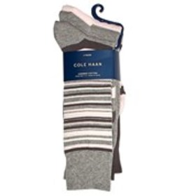 COLE HAAN Mens 3-Pack Striped Combed Cotton Socks