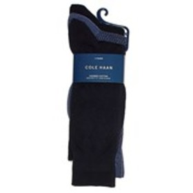 COLE HAAN Mens 3-Pack Argyle Combed Cotton Socks
