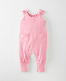 Hanna Andersson Bright Basics Romper in Rose Pink