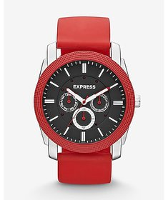 Express rivington multi-function watch - red