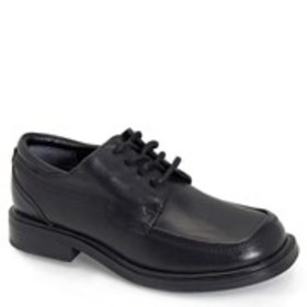 Boys Leather Moc Toe Dress Shoes