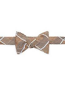 Hanky Panky Plaid Patterned Button Bowtie BROWN