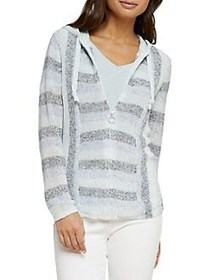 NIC+ZOE Multi-Striped Zip Hoodie MULTI