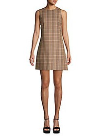 Alice + Olivia Coley Plaid Shift Dress PINK MULTI
