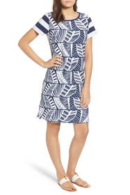 Tommy Bahama Palm Leaf Stripe T-Shirt Dress