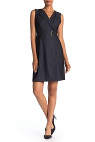 Modern American Designer Denim Side Wrap Dress