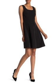 T Tahari Sleeveless Paneled Skater Dress