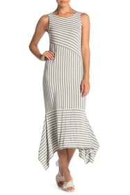 Ella Moss Kaylee Striped Sleeveless Midi Dress