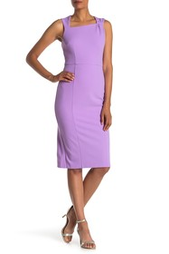 Donna Morgan Asymmetrical Neck Sleeveless Dress