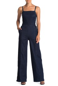 Ella Moss Sleeveless Denim Jumpsuit