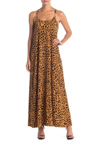 Donna Morgan Leopard Print Maxi Dress