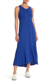 Splendid Solid High/Low Midi Dress
