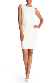 Modern American Designer Sleeveless Sheath Dress
