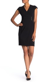 Modern American Designer Side Bar Wrap Dress