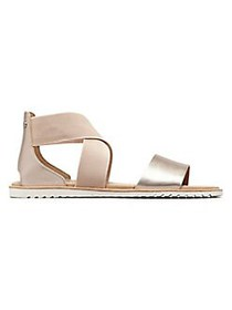 Sorel Ella Leather Sandals WARM GOLD