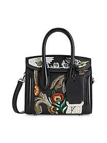 Alexander McQueen Mini Heroine 21 Embroidered Leat