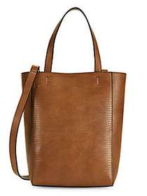French Connection Small Fifi Embossed Faux Leather