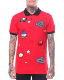 Buyers Picks ufo & saturn chenille patch polo