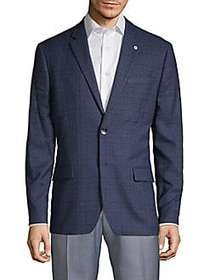 Ben Sherman Tonal Plaid Sport Coat NAVY