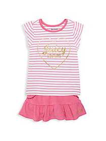 Juicy Couture Baby Girl's 2-Piece Top & Skirt Set