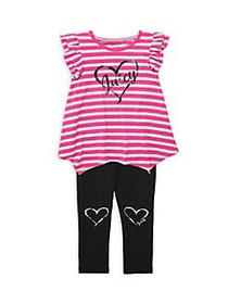 Juicy Couture Baby Girl's 2-Piece Striped Cotton-B
