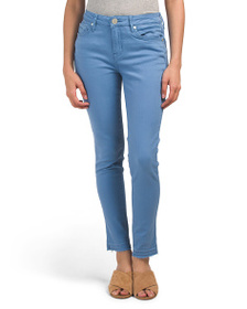 SEVEN7 Mid Rise Colored Ankle Skinny Jeans