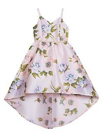 Rare Editions Little Girl's Belted Floral High-Low